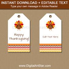 thanksgiving thank you tags white with turkeys and chevron