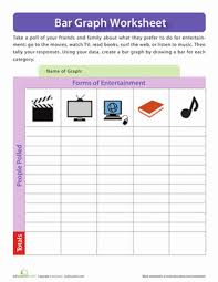 forms of entertainment graph worksheet education com