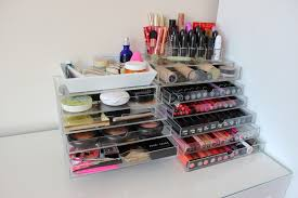 home sweet home makeup collection storage tattooed tealady