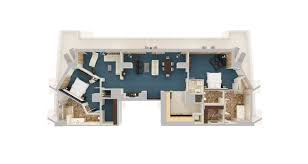 Fort Lauderdale Hotels Hilton Fort Lauderdale Beach Resort Floor Plan 3d Suite