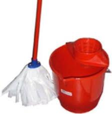 mocio pavimenti secchio completo di strizzatore mocio e bastone kit pulizia