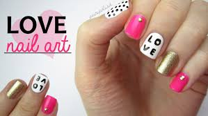 nail art for valentine u0027s day love mix u0026 match design youtube
