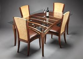 wood dining table and chairs set astounding design of the glass