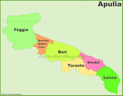 Foggia Italy Map by Apulia Provinces Map