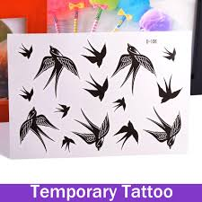 waterproof body art temporary tattoos sticker stickers