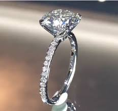 3 karat engagement ring 3 carat brilliant solitare in a four prong claw setting with