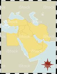 A Map Of The Middle East by A Colorful Map Of The Middle East With No Labels Stock Vector Art