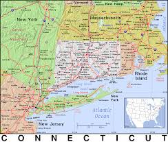 Connecticut New York Map by Map Of New York And Connecticut Afputra Com
