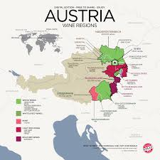 map of regions of germany get to austrian wine with map wine folly
