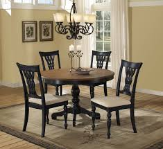 Round Black Dining Table Starrkingschool - Black dining table with wood top