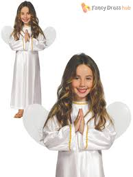 girls angel costume childs christmas fancy dress kids nativity