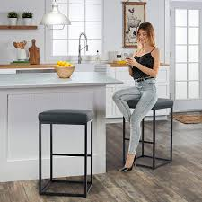 bar height kitchen base cabinets maison arts bar height 30 inch bar stools set of 2 for kitchen counter backless industrial stool modern upholstered barstool countertop saddle chair