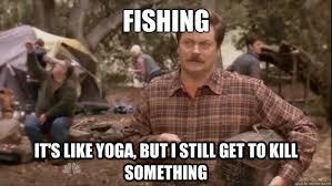 Swanson Meme - ron swanson fishing memes quickmeme