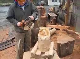 Free 3d Wood Carving Patterns For Beginners by Chainsaw Carving 4 Minute Bear Youtube