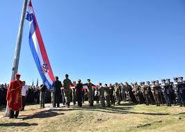 Flag Of Bosnia Croatia And Serbia In War Of Words