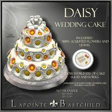 second life marketplace sculpted cake u201cdaisy u201d round 3 tier cake