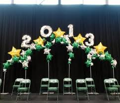 stage backdrop for the students graduating balloon walls and
