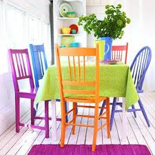 Painted Dining Chairs by Colorful Dining Room Tables Colorful Painted Dining Table