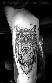 owl tattoo arm tattoos idea pinterest manga tríceps e ideias