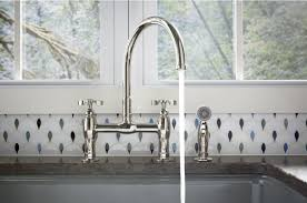 kitchen bridge faucet wall mounted country kitchen bridge faucet with handspray