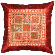 Orange Pillows For Sofa by Silk Red Maroon Accent Sofa Mirror Pillow Cover 16