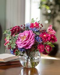 hydrangea arrangements hydrangea berries silk flower accent arrangement at