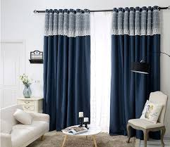 Washable Curtains Aliexpress Com Buy Sunnyrain 1 Piece Navy Luxury Curtain For