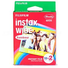 polaroid instant 300 v礬ritable fujifilm instax large arc en 20 feuilles papier
