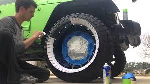 plasti dip jeep white plastidip wheel lip youtube