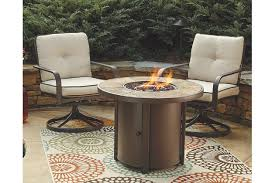 Outdoor Furniture With Fire Pit Table by Predmore Fire Pit Table Ashley Furniture Homestore