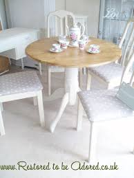 fascinating shabby chic round dining table and chairs marvelous