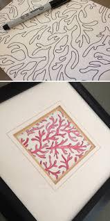 sketchbook page u2014water color coral patterned artwork radworks
