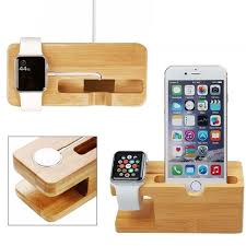 Phone Charging Stand by Aliexpress Com Buy Cell Phone Charger Dock With Watch Bamboo