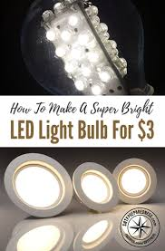 how to make a bright led light bulb for 3
