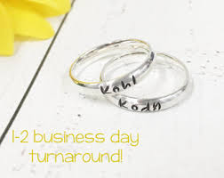 mothers day rings with names personalized rings name rings mothers stacking name rings