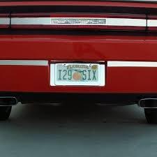 dodge challenger bumper car craft brushed bumper insert trim plate dodge