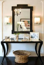 Hallway Table And Mirror Mirror Mirror On The Wall Accessorize Above The Console Table As
