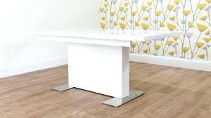 large white gloss extending dining table white gloss extending