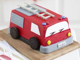 firetruck cake engine recipe food to
