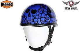 Comfortable Motorcycle Helmets Motorcycle Blue Eagle Novelty Helmet W Boneyard Graphic W Chin