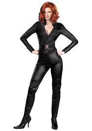 spirit halloween straight jacket stretch leather fabric for avengers black widow jpg