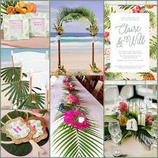 tropical themed wedding wedding wednesday palm tree tropical wedding ideas hotref party