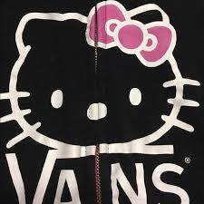 86 off vans tops hello kitty vans black zip up hoodie