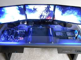 Computer Built Into Desk Attractive Computer Gaming Desk Swordfish The Ultimate Pc Desk