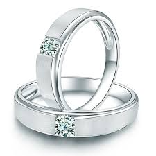 Couple Wedding Rings by Satin Finish Couples Diamond Wedding Ring Bands Jewelocean Com