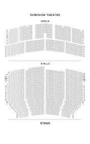 National Theatre Floor Plan by Dominion Theatre Seating Plan Londontheatre Co Uk
