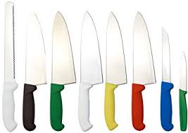 coloured kitchen knives colour coded knife set by dolomiten inox 8 deluxe edition