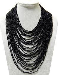 multi layered black necklace images Cheap 3 strand beaded necklace find 3 strand beaded necklace