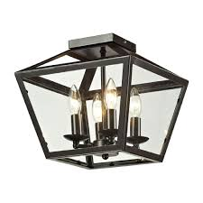 Ceiling Mounted Light Fixture by Elk 31506 4 Alanna Oil Rubbed Bronze Ceiling Light Fixture Elk