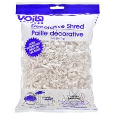 foil shreds bulk voila crinkle cut white decorative paper shreds 2 oz bags